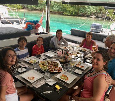 Lunch on board London Sky - BVI (Little Harbor)