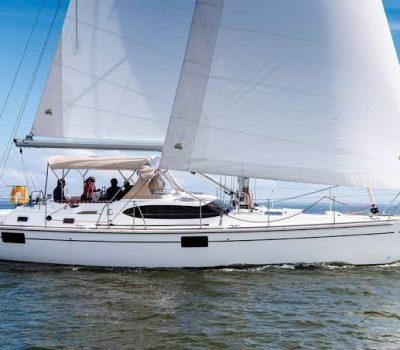 55ft Oyster - under sail